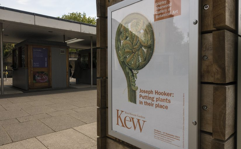 Exhibition poster at Kew
